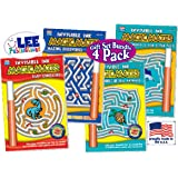 "Magic Mazes: Invisible Ink ""Baby Dinosaurs"", ""Mazing Discoveries"", ""Mazing World of Sea Animals"" & ""Mazing World of Fish & Fun Facts"" Activity Books Gift Set Bundle - 4 Pack"