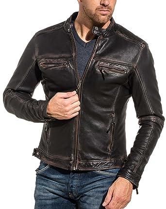 Cityzen - Veste Cuir Noir Homme Vintage - Couleur  Noir - Taille  XS ... f700cab6350