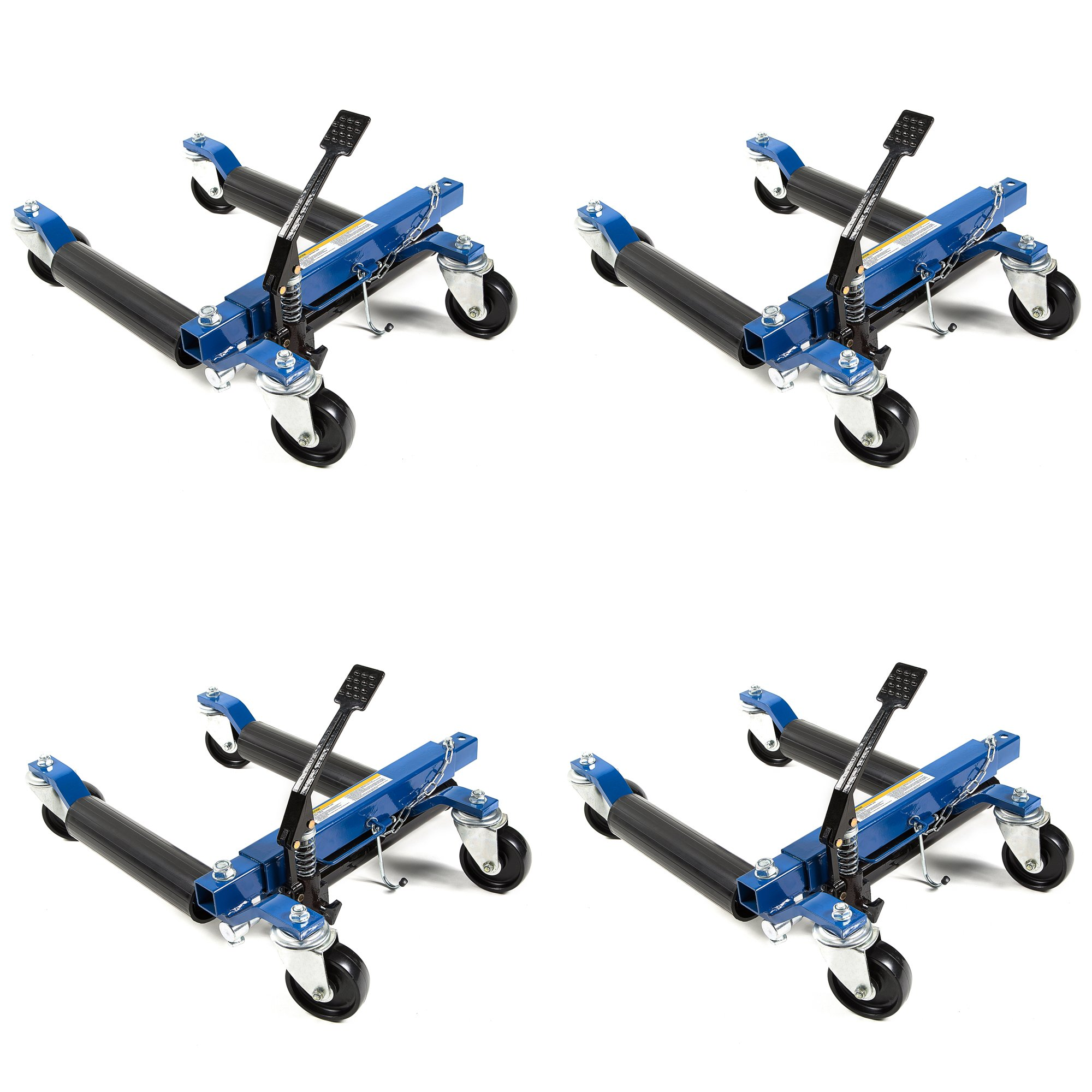 Capri Tools 21085 Hydraulic Car Positioning 12 inch Tire Jack/Dolly (4-Pack)