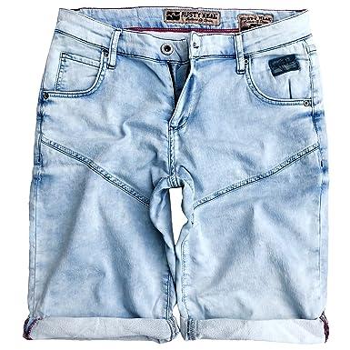 0d3adb0eb0df Rusty Neal Jeans Style Capri Kurze Herren Bermuda Shorts Cargo Blau Denim  Hose, Model
