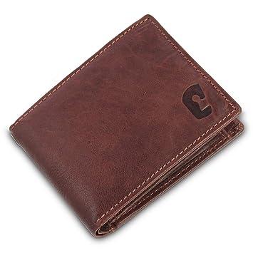 c3191a9047d0c Safekeepers - Portemonnaie Männer in Querformat Kompakt - Portmonee - RFID  Geldbörse - Leder Geldbeutel -