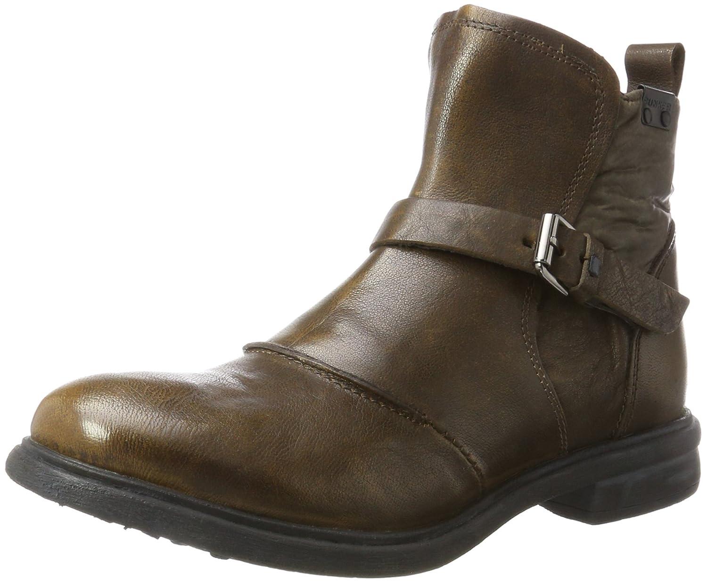 BUNKER Boy - Botines de Cuero Hombre, Color Verde, Talla 47 EU: Amazon.es: Zapatos y complementos