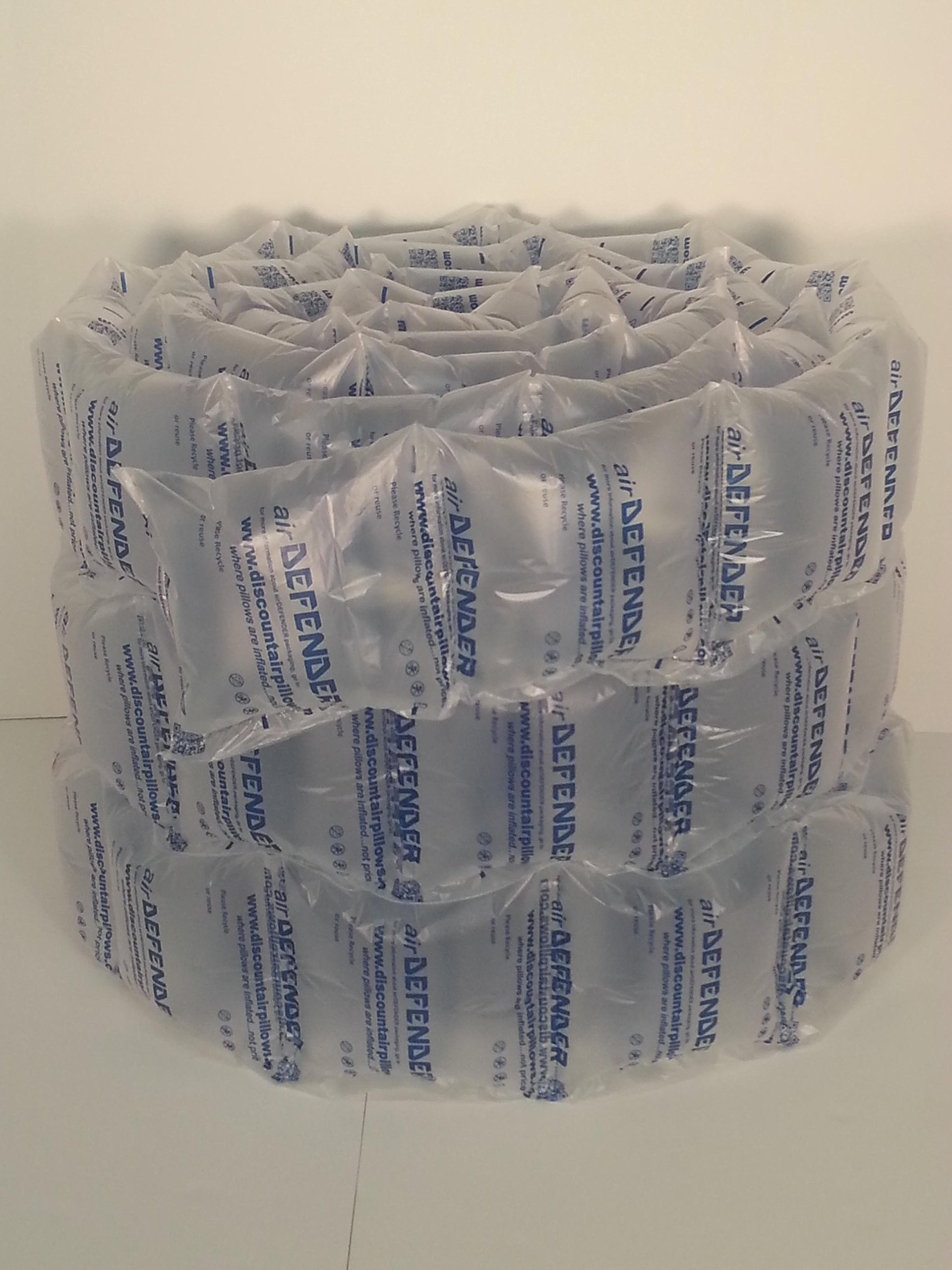 8 x 8 airDEFENDER air pillows 84 quantity 40 gallons 5.33 cubic feet void fill cushioning from Discount Air Pillows