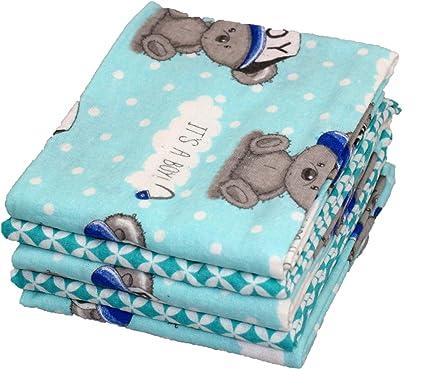 ce95936517 Babymajawelt - Lenzuola di flanella per bimbo, 70 x 80 cm, confezione da 5:  Amazon.it: Prima infanzia