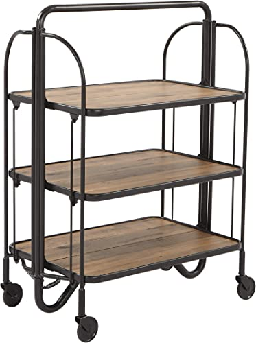 OSP Home Furnishings Sarita Bar Cart, Black
