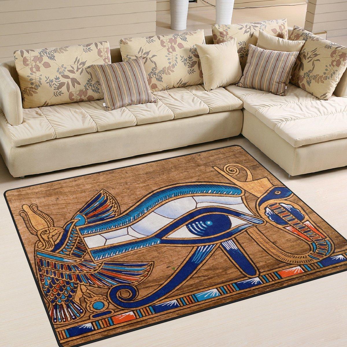 Amazon Com Naanle Egypt Area Rug 5 X7 Egyptian Horus Eye