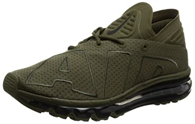 Nike Mens Air Max Flair Low Top Lace Up Running, Medium Olive/Sequoia,