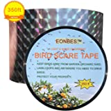 Bird Deterrent Ribbon Repellent Scare Reflective Tape, Holographic Hawk Pigeon Seagull Sparrow Woodpecker Crow Geese Deterrent Repellent Control Scarer, 350 Feet by 2 Inches