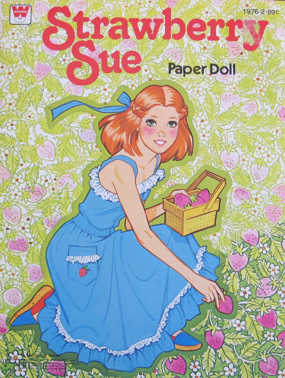 Whitman STRAWBERRY SUE PAPER DOLL Book UNCUT w Press Out Doll &Fashions (1979)