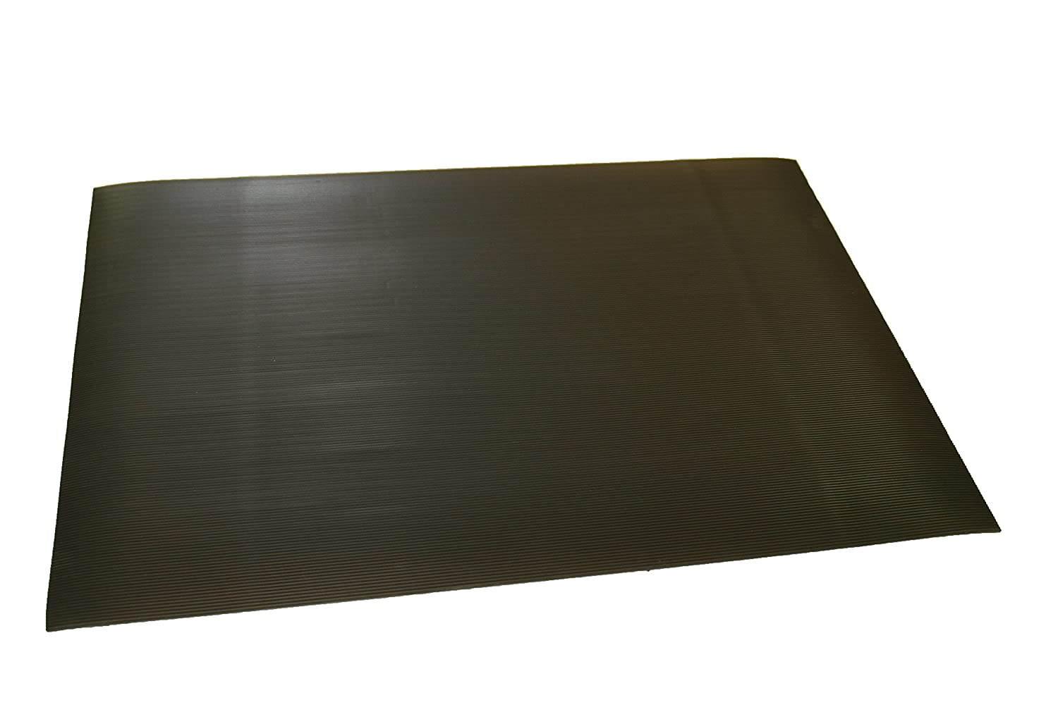 Ribber  Corrugated Rubber Runners Mat 2/' width 1//4 thick