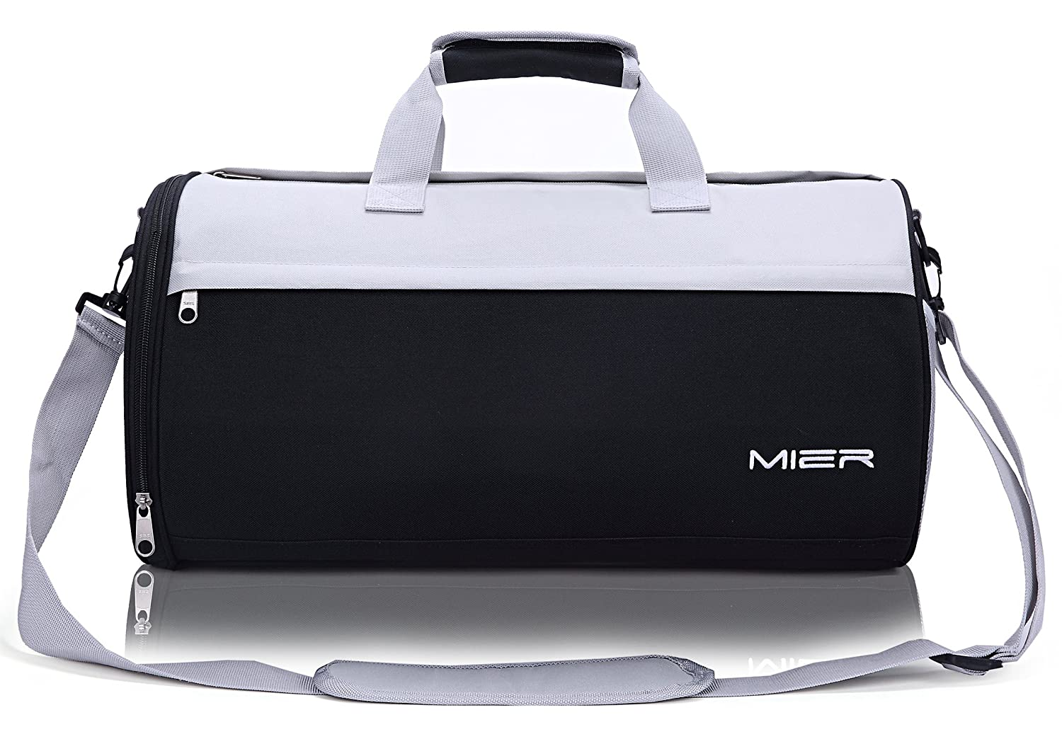 dfe7015582a2 MIER Barrel Travel Sports Bag for Women and Men Small Gym with Shoes  Compartment