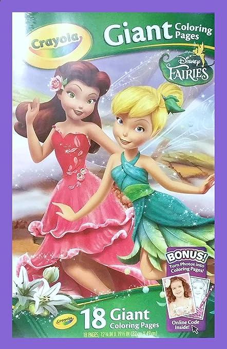 Amazon.com: Crayola Disney Fairies Giant Color Pages: Toys & Games