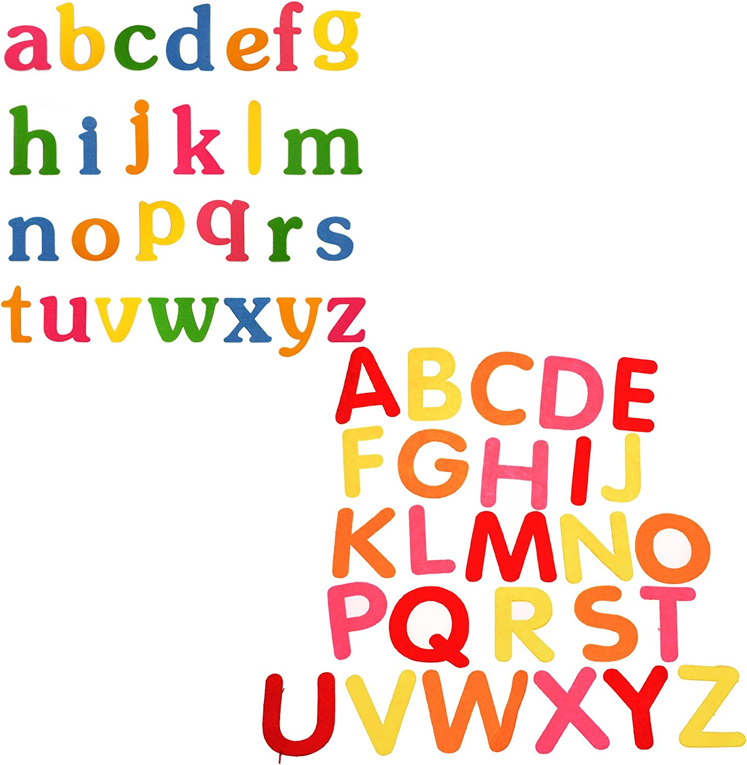 Set A to Z Uppercase Letters Felt Letters BCP Random Color Set A to Z Lowercase Letters Alphabet Felt Letters