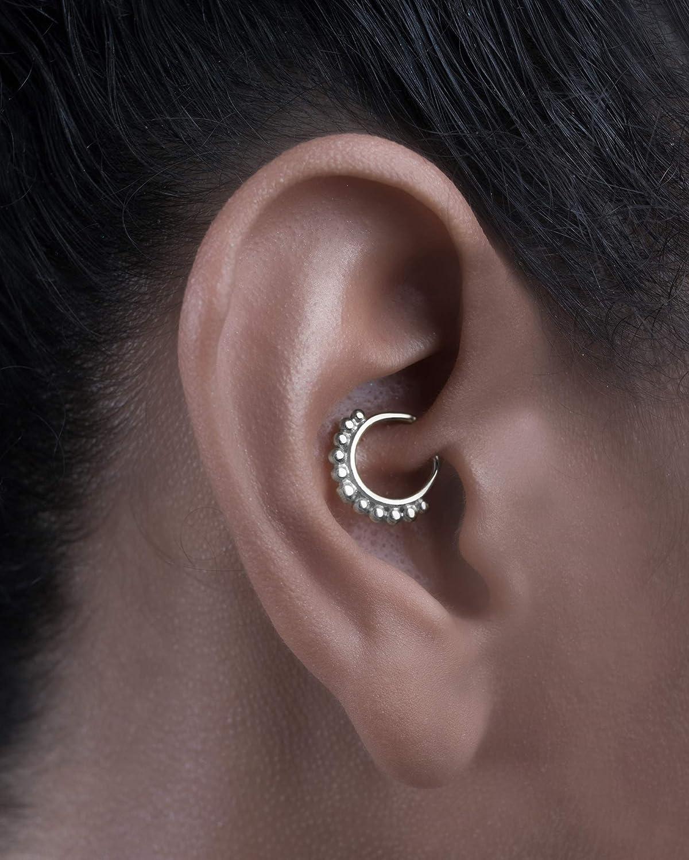 Amazon Com Silver Tragus Earring Tribal Indian Daith Piercing