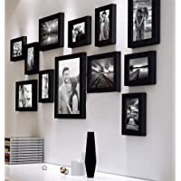 Art Street Decorative Premium Nebula Set of 12 Individual Wall Photo Frame - Black(4X6-7 Unit, 6X8-4 Units, 8X10- I Unit)