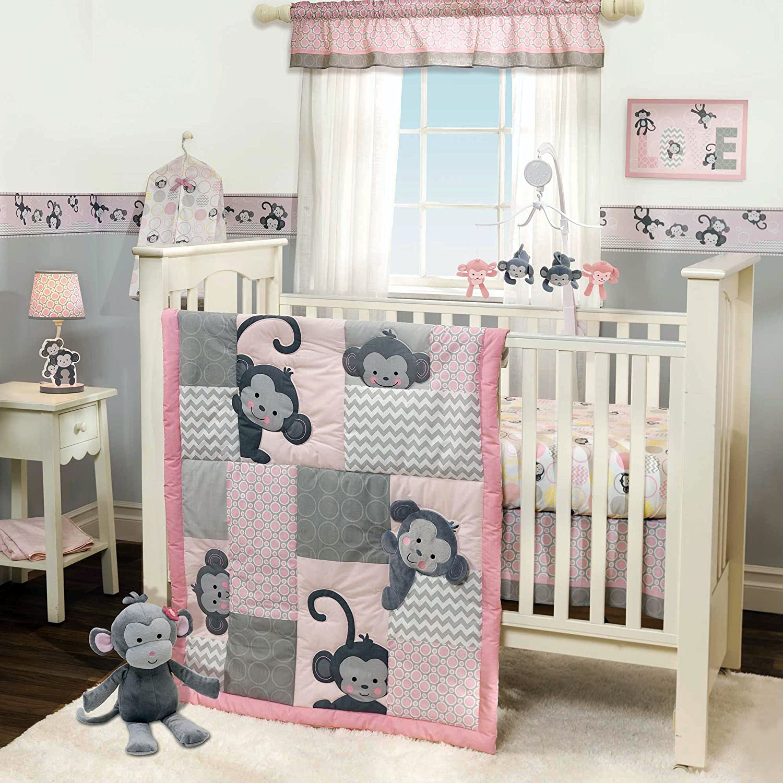 Baby cribs bedding sets - Amazon Com Bedtime Originals 3 Piece Crib Bedding Set Pinkie Monkey Crib Bedding Baby