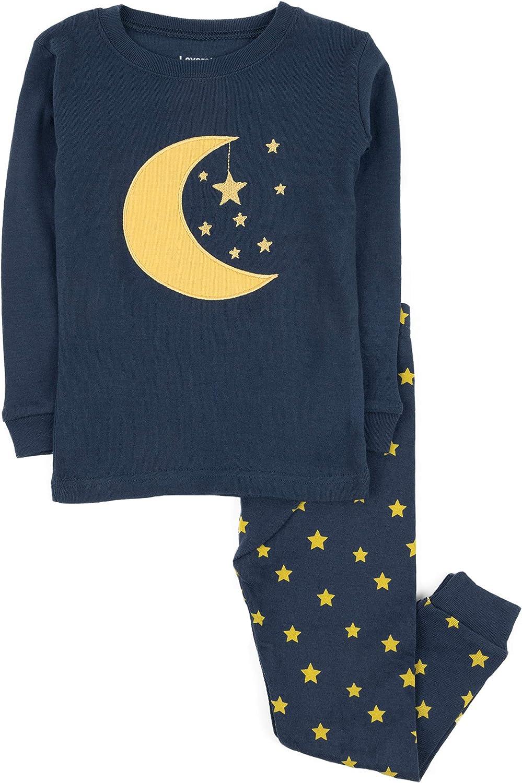"""Leveret Boys Girls"""" Moon & Stars""""クリスマス2ピースパジャマセットトップパンツ100 %コットン(toddler-14年"""