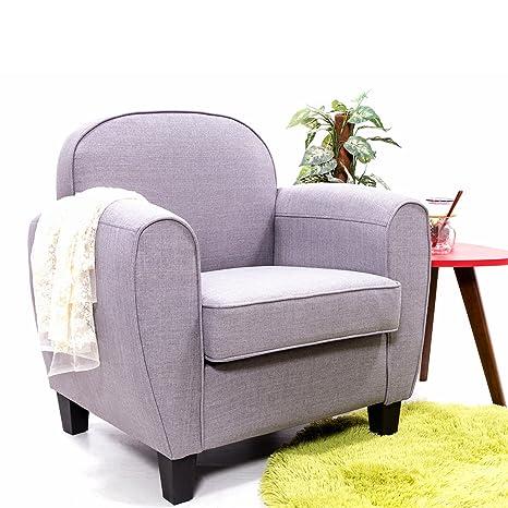 Panana moderno tela Tub sillón de lino, sofá, sala de estar ...