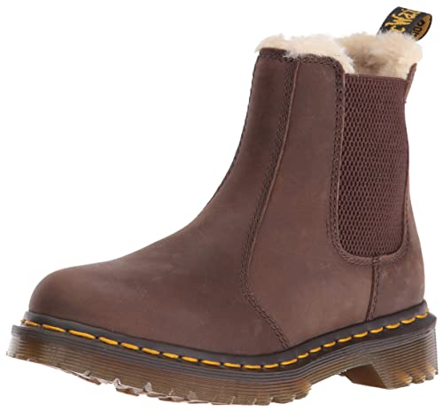 Dr. Martens Womens Chelsea | FUR LINED 2976 LEONORE WYOMING BLACK BURNISHED WYOMING ~ SEO India Bizz