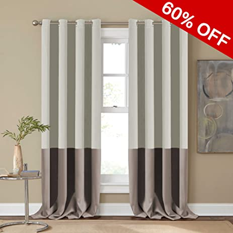 amazon com thermal insulated light blocking grommet curtains two