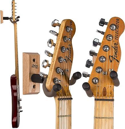String Swing CC01KOAK, Colgador de Pared para Guitarra y Soporte ...
