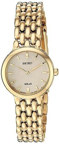 Amazon.com: Seiko - Reloj de cuarzo japonés para mujer con ...