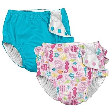 19661e87eee i play. Baby Girls Cloth Reusable Swim Diaper - 2 Pack