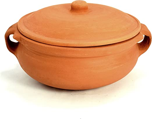 clay cooking pots in Amazon.com: Ancient Cookware Clay Curry Pot, Extra Large, 1 Inch