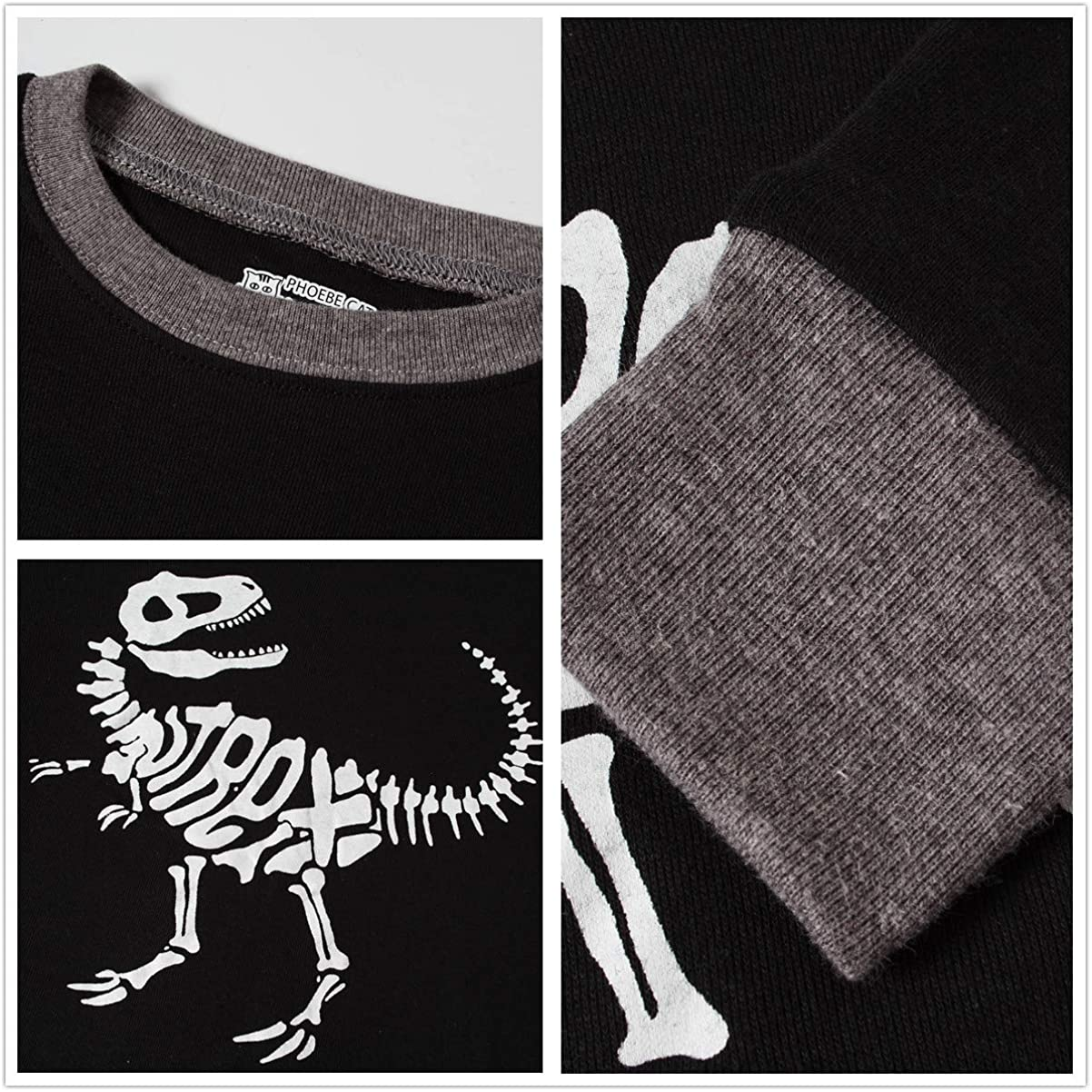 THE Crafts Little Boys Dino Pajamas Set Children PJs 100/% Cotton Sleepwear