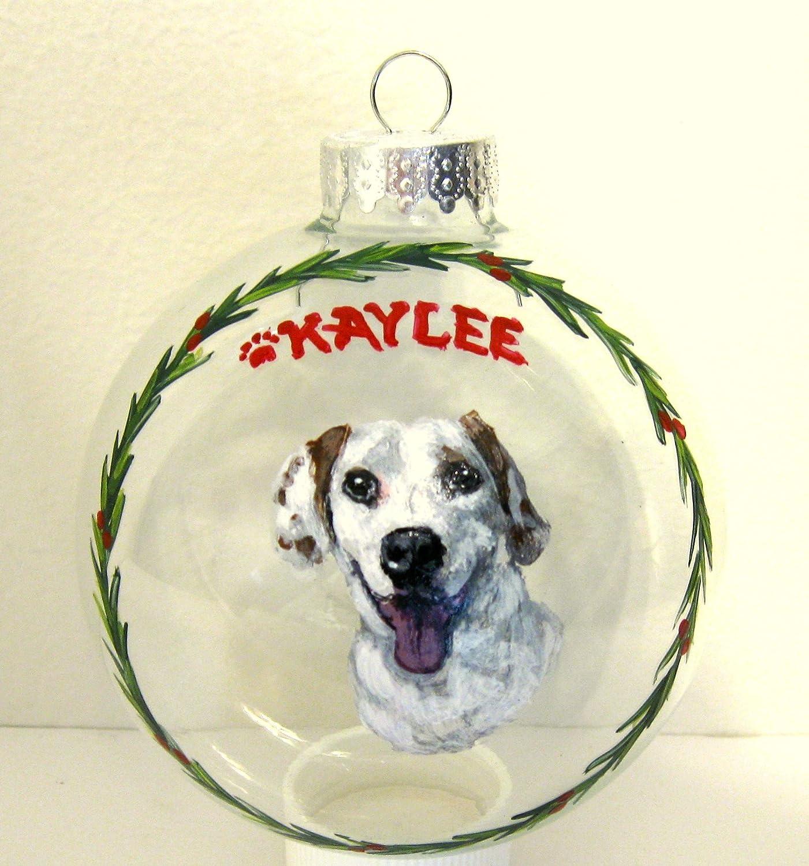 Painted flanks custom full body dog portrait ornament Christmas decoration memorial