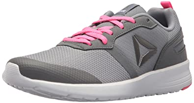 Reebok Women's Foster Flyer Track Shoe,Flat Grey/Medium Grey/Poison Pink/