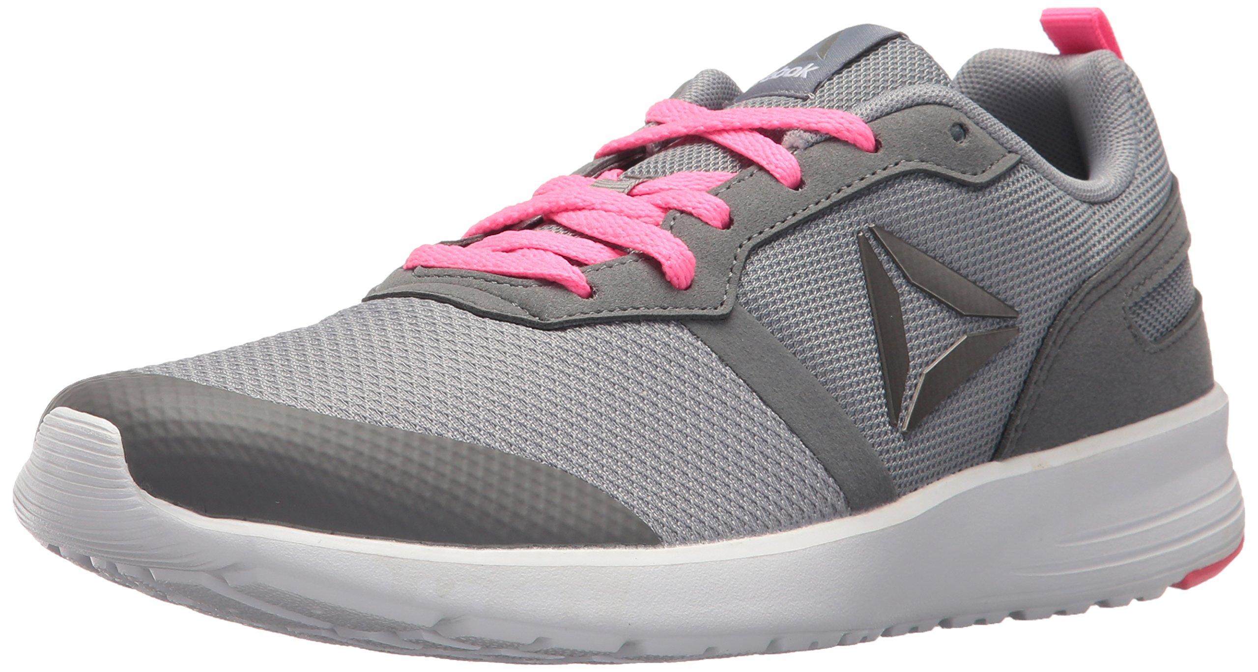 Reebok Women's Foster Flyer Track Shoe,flat grey/medium grey/poison pink/white/pewter,6 M US