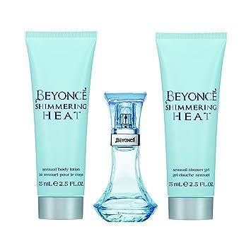 Amazoncom Beyonce Beyonce Heat Shimmer 3pc Set 10 Ounce Edp