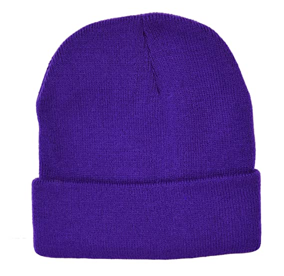 Knit Beanie   Purple at Amazon Men s Clothing store  Cold Weather Hats 42430934d22