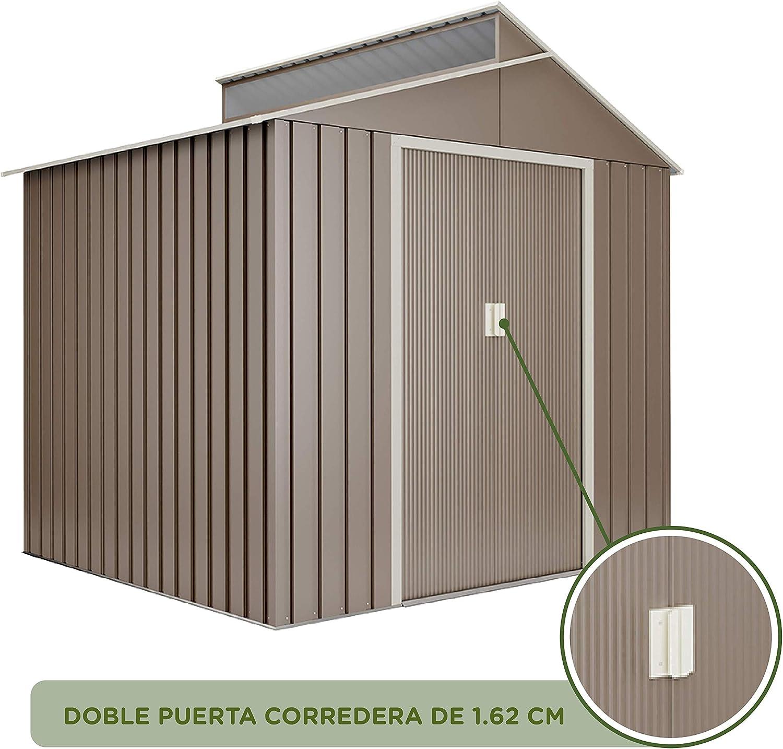 Hoggar caseta metálica Breda 4, 25m2: Amazon.es: Jardín