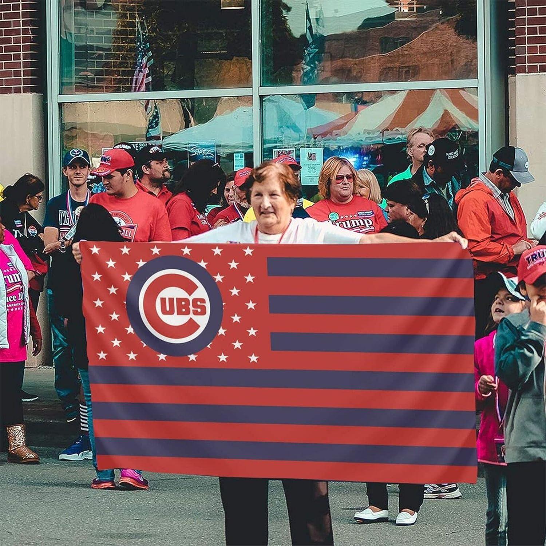 N\C Chicago Baseball Cu-Bs Flag 3x5 Feet Easy to Disassemble Durable Party Garden Flag Decor Outdoor Flag