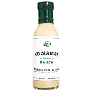 Keto Friendly Ranch Salad Dressing and Dip by Yo Mama's Foods - Pack of (1) - Low Carb, Low Sodium, and Gluten-Free