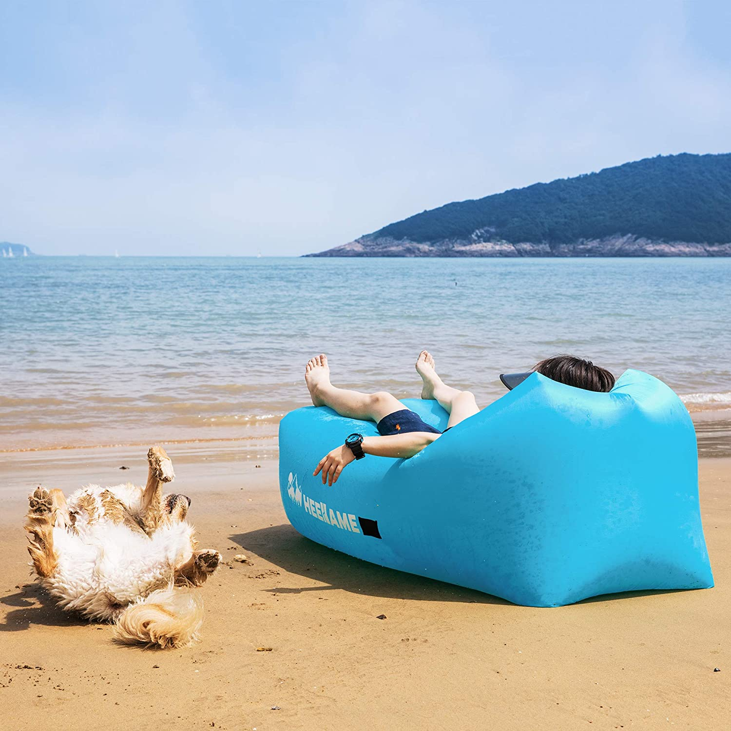 HEEKAME Inflatable Lounger Air Sofa Portable Hammock with Opener,Water Proof Ideal Gift Couch for Beach Lakeside Backyard Traveling Camping Picnics /& Music Festivals