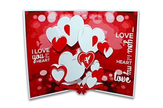 Love pop up 3d greeting card amazon office products m4hsunfo