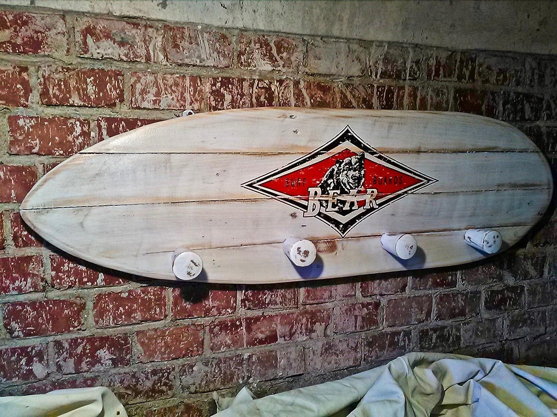 caliente chop Surf Bear Vintage Wood Beach Bar Style cm 90