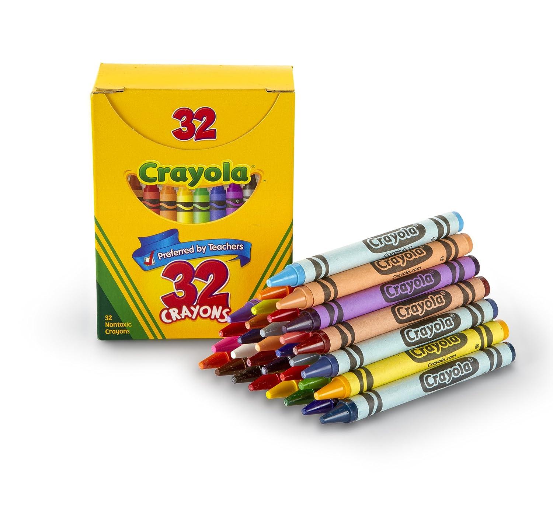 amazon com crayola 32 count crayons tuck box toys games