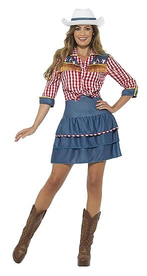 Smiffys Smiffys-24648S Disfraz de muñeca de Rodeo, con ...