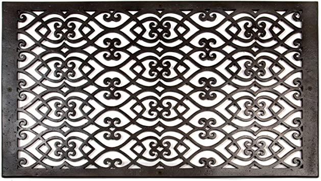 Naiture 14 X 24 Oversized Solid Cast Bronze Wall Return Air Vent Cover Grille Or Register Victorian Style Dark Bronze Finish Amazon Com