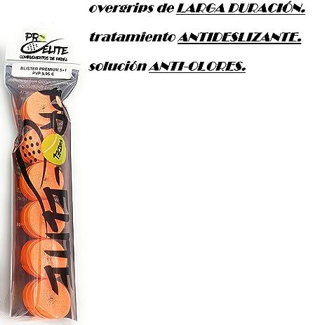 overgrips Pro Elite Premium Liso Naranja Flúor. Blister 5+1 ...