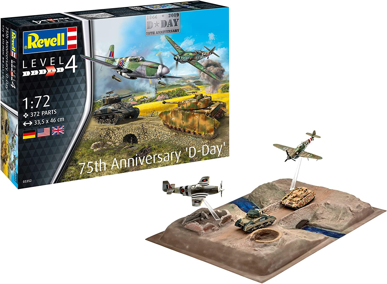 Revell-Gift Set-D-Day 75th Anniversary, Escala 1:72 Kit de Modelos de plástico, Multicolor, 1/72 03352 3352