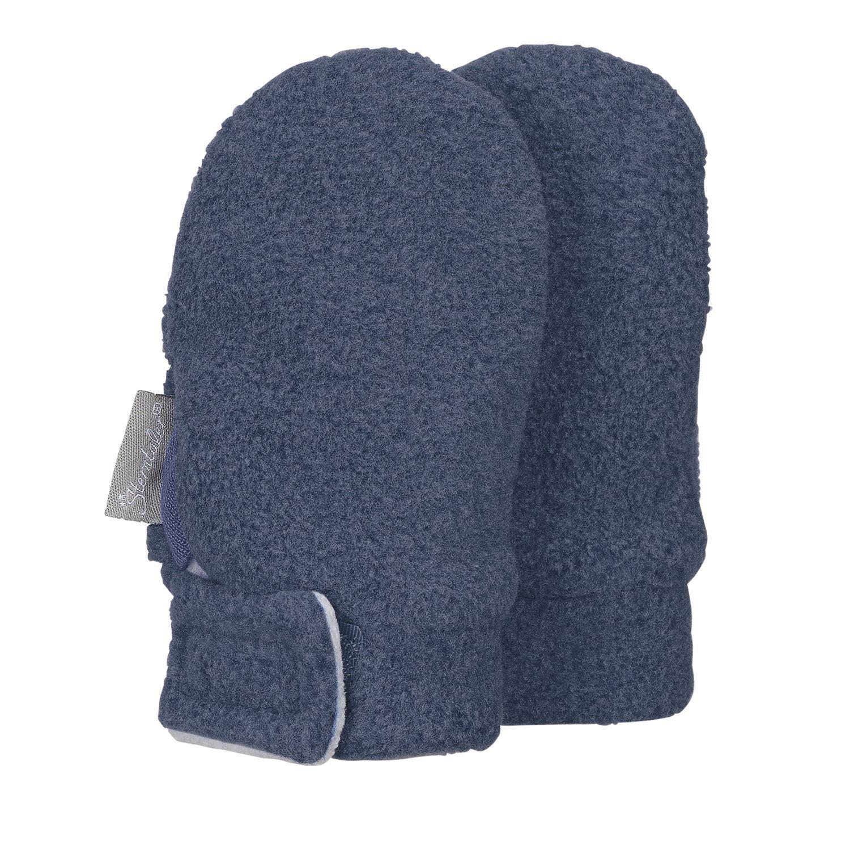 Sterntaler - Baby Jungen Fäustlinge Handschuhe Fleece mit Klettverschluss ohne Finger, tintenbl. mel. - 4301400