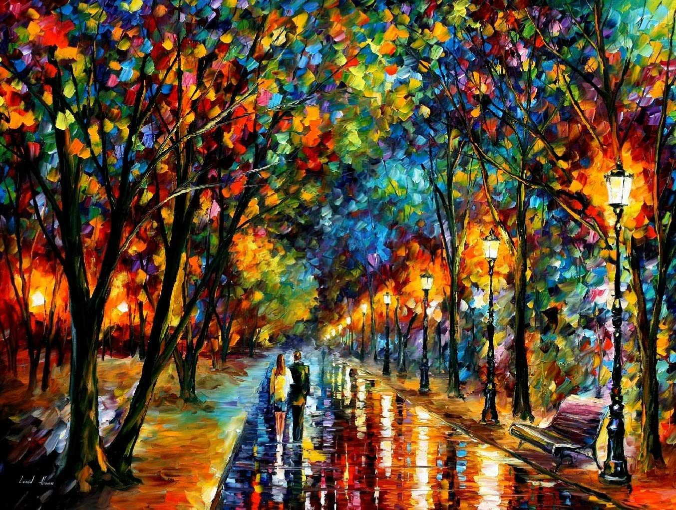 DIY Paint by Numbers Kit for Adults - Lights in Raining night   Paint by Numbers Landscape Scene Paintings Arts Craft for Home Wall Decor   Pre-Printed Art-Quality Canvas, 3 Brushes, 24 Acrylic Paints by Alto Crafto