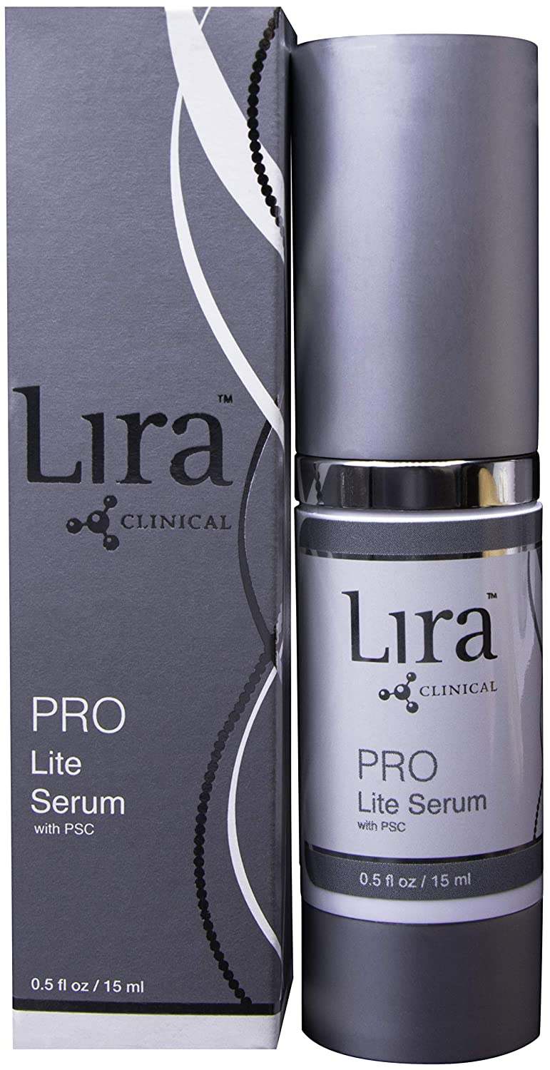 LIRA CLINICAL PRO Lite Serum with PSC - Brightening Face Serum enriched with Sea Fennel Plant Stem Cells, Gooseberry and Mulberry Extracts (0.5 Ounces / 14 Milliliter)