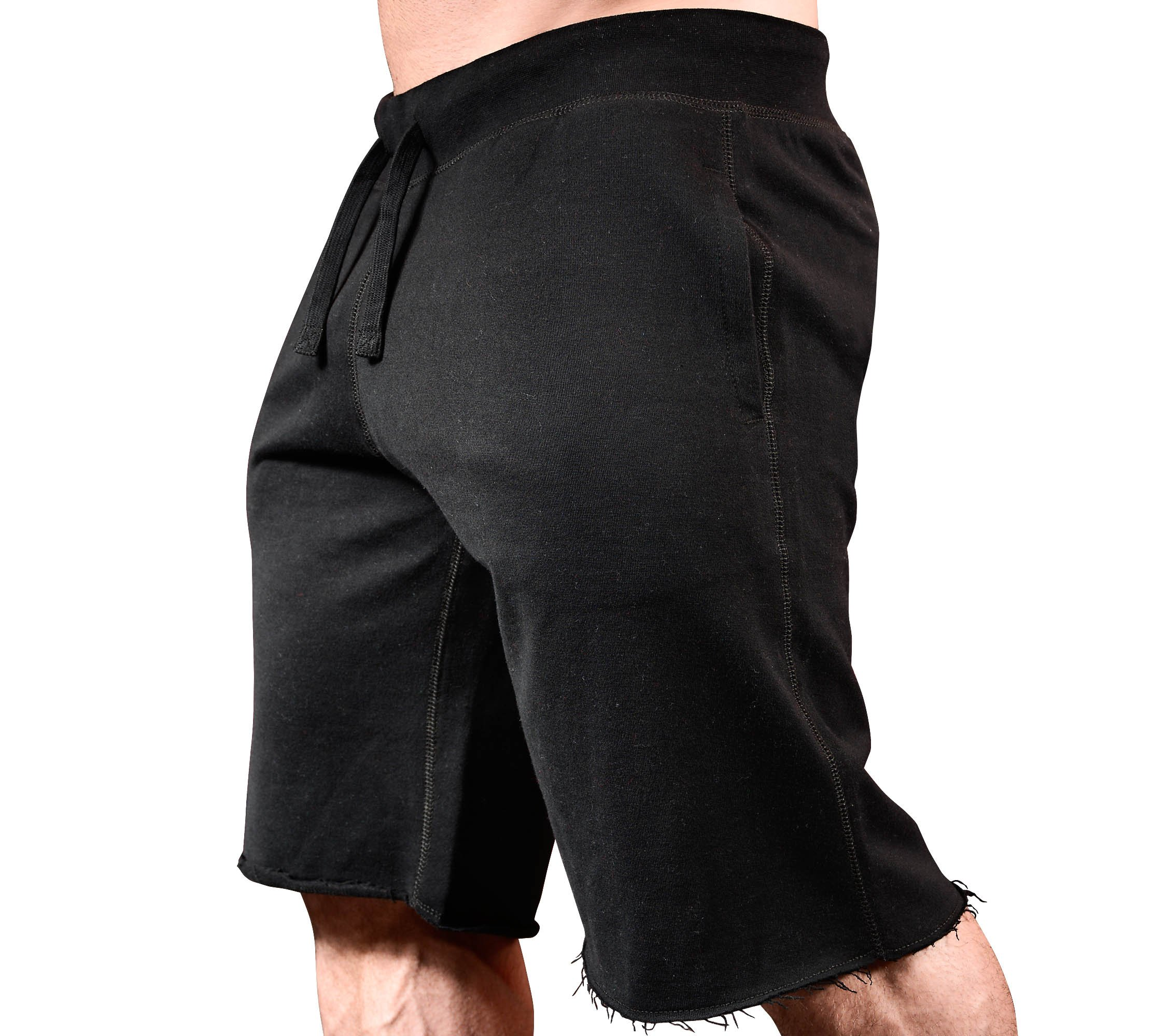 HRD LVN Mens Workout Shorts Classic Black by Monsta Clothing Co.