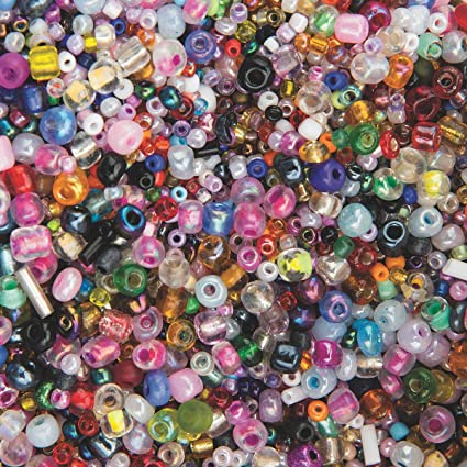 India Glass Seed Beads 1-lb Bag Bag. of 15,000